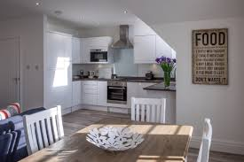 White Hut Kitchen by Beach Hut Day Rental Lytham St Annes
