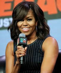 ms obamas hair new cut michelle obama hair on pinterest michelle obama pictures