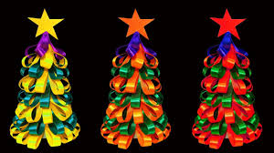 colorful ribbon how to make a beautiful and colorful ribbon christmas tree