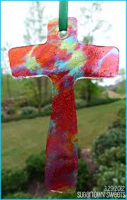 sugartown he is risen cross ornaments