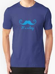 baby shower t shirts it s a boy text with blue mustache for baby shower t shirts