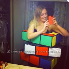 Tetris Halloween Costume Homemade Rubik U0027s Cube Costume Huge Hit Costumes