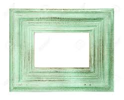 vintage style green colored frame isolated on white background