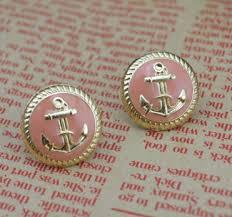 anchor earrings trinket square anchor earrings pink trinket square