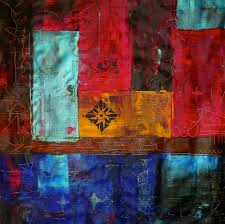 patchwork ii colorful abstract art original acrylic painting for