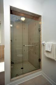 cleaning a glass shower door