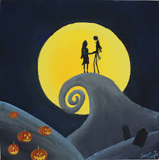 nightmare before halloween running with scissors nightmare before christmas painting