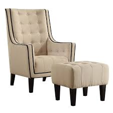 Tufted Accent Chair Acme Ophelia Tufted Accent Chair With Ottoman In 59632