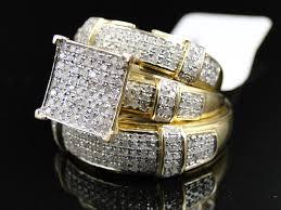 wedding trio sets swarovski wedding ring sets simple trio wedding ring sets