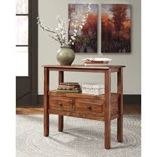 Wooden Sofa Tables by Acacia Solid Wood Accent Table By Signature Design By Ashley