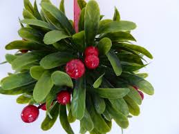 Hanging Topiary Artificial Topiary Balls 16cm Mistletoe Berry Hanging Topiary Ball