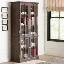 pint glass display cabinet tall glass display cabinet wayfair