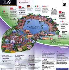 Orlando Fl Map by Theme Park Brochures Walt Disney World Epcot Theme Park Brochures