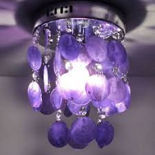 Purple Pendant Light Luxury Purple Crystal Shell Pendant Lamp Chandelier Ceiling Light