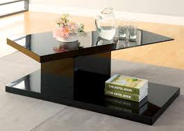 furniture of america flara high gloss lacquer coffee table