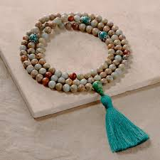 turquoise opal african opal u0026 turquoise mala 108 beads dharmacrafts