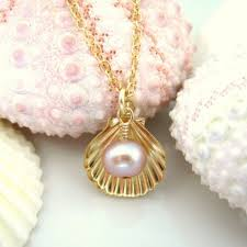 shell necklace with pearl images Kblossoms jewelry gold sea shell rose pearl charm necklace jpeg