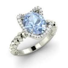 Aquamarine Wedding Rings by Aquamarine Engagement Rings For Women March Birthstone
