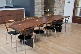 slab dining room table dining room slab dining room table in solid walnut rustic tables