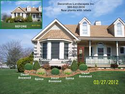 Landscaping Around House by Front Yard Landscape Designs In Ma Decorative Landscapes Inc