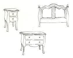 modern furniture sketches interior design