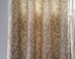 Brown And Ivory Curtains Grommet Curtains Etsy