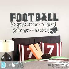 Sports Nursery Wall Decor Sports Nursery Wall Decor Football Vinyl Decal No By Grass Stains