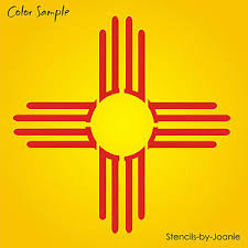 4 zia sun stencil southwest mexico desert light symbol