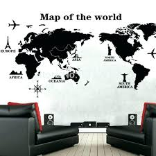 Exotic World Map Decor Shining Design Map Wall Decor With Best