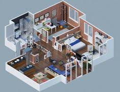 5d home design 1000 square 3d 2bhk house plans small houses