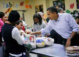 president obama and family celebrate thanksgiving through the