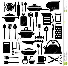 couverts cuisine outil de cuisine icônes de vecteur de couverts réglées illustration