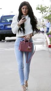 jenner sweater jenner wearing white cropped sweater light blue