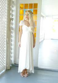 Hippie Wedding Dresses Odessa Sweetheart Boho Hippie Wedding Dress With Cap Sleeves