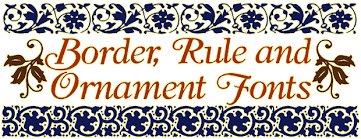 borders and ornaments fonts