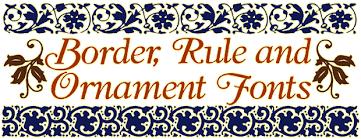 border and ornament fonts fontcraft scriptorium fonts and