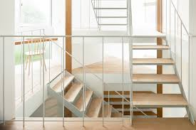 office stairs design central staircase connects house in kamiosaki by comma design office