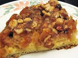 pineapple upside down cake with nut topping from the grapevine