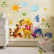 stickers chambre d enfant bébé ours de bande dessinée bricolage papier peint pour chambres d