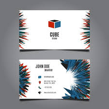 Business Card Design Psd File Free Download Abstract Business Card Design Vector Free Download