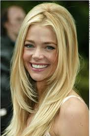 layered long haircut with height on top denise richards hairstyle at top her hair has a crisscross