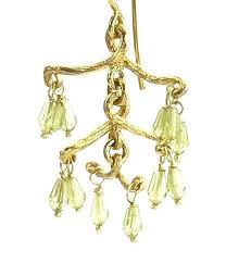 Peridot Chandelier Earrings Earrings Barbara Michelle Jacobs Jewelry