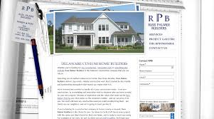 website project for russ palmer builders by fine line websites