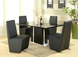 Dining Table Black Glass Black Dining Table And Chairs Set Indigo Creek Black Round