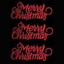 merry christmas signs merry christmas glitter sign plaque hanging door tree window