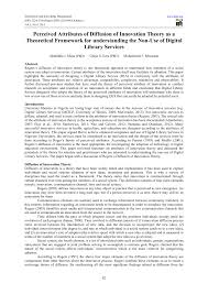writing a theoretical paper perceived attributes of diffusion of innovation theory as a perceived attributes of diffusion of innovation theory as a theoretical framework for understanding the non use of digital library services pdf download