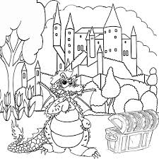 fantasy dragon coloring pictures print color worksheets