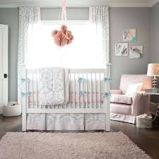 Gray And Pink Crib Bedding Pink Crib Bedding Set