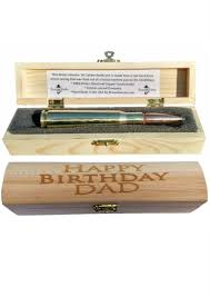 engraved wooden gifts birthday gift for 50 caliber bmg bullet pen in engraved wood