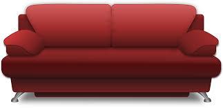 Red Sofa Set Png Clipart Sofa